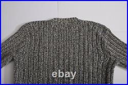 VERY RARE Vintage Polo Ralph Lauren American Flag Sweater SZ L Dark Blue/White