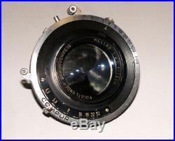 VERY RARE Voigtlander HELIAR 4.5/15cm Large Format lens 9x12 cm COMPUR shutter