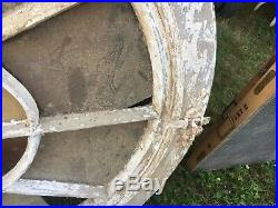 VERY RARE unique large c1870 OVAL window frame 51 x 40 x 3.25 Old hardware