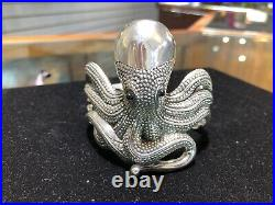 VINTAGE SOMS Sterling Silver Large Heavy OCTOPUS Cuff Bracelet VERY RARE NWT
