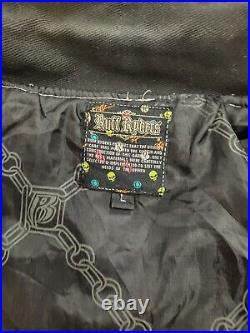 VTG Ruff Ryders Varsity Motorcycle Jacket Size Large Very Rare DMX Eve Jadakiss