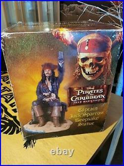 Very Large Pirates Of The Caribbean Jack Sparrow Keepsake Statue Very Rare