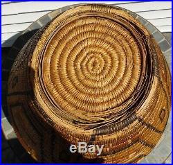 Very Large Rare Early Pima Native American Polychrome Indian Basket 57 Around