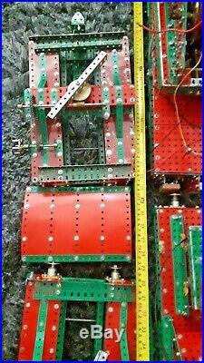 Very Large Rare Meccano Train Wagon Crane With Carts Loft Find