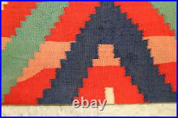 Very RARE 3-PLY Large 72x52 Navajo Germantown Shoulder Blanket / Serape c1870s