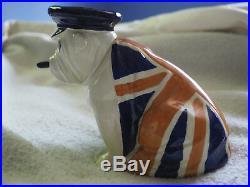 Very RARE Royal Doulton Large Churchill English Bulldog, ca 1941