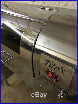 Very RARE Tito's Vodka Airstream Grill/Smoker/Display Great Gift! Large
