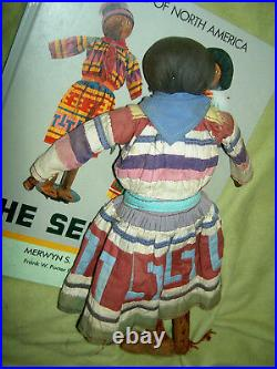 Very RARE, early PAIR, 1930s, large authentic palmetto SEMINOLE Indian dolls