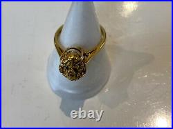 Very Rare 18ct Shanked Gold Ring Set With A Stunning Gold Nugget