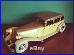 Very Rare 1930's Tippco Tipp&Co TCO Large Tin Wind-up Deluxe Horch Limousine