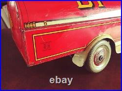 Very Rare 1930's Wells Large Tin Wind-up SHELL BP Oil Truck Petroliana Tinplate