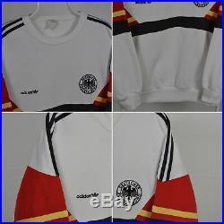 Very Rare 1988 1990 Germany Adidas Football National Team Sweatshirt L/xl