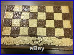 Very Rare Antique Aztec Mayan Large Chess Board Set Mexico MAKE AN OFFER