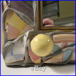 Very Rare Auth Mackenzie Childs Putty Shard Large Mirror Picture Frame 11 X 9