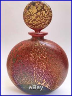 Very Rare Isle of Wight Studio Glass Large Firecracker Perfume Bottle 1985-86