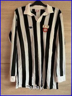 Very Rare Juventus old 1970/1980s Home Shirt 9 Kappa Italy Match Worn