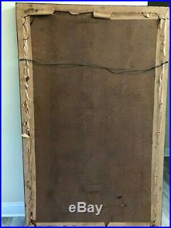 Very Rare Large Antique Carmelite Nuns Convent Crucifixion Painting 70