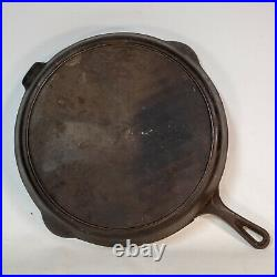 Very Rare Large Antique Hanks #14 Cast Iron Skillet Rome, GA 15 Vintage