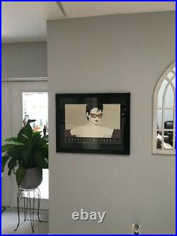 Very Rare Large Pop Art Nagel Women By Patrick Nagel Limited Edition