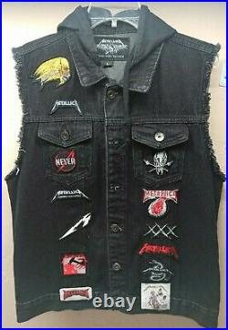 Very Rare Metallica Patch Vest Jacket Size Large Great Condition