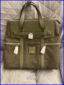 Very Rare! NWOT Henri Bendel Large JetSetter Conv. Backpack Olive with Dust bag