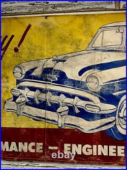 Very Rare Original 1954 CHEVROLET BELAIR DEALERSHIP SIGN BANNER LARGE 9.5ft x39