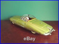 Very Rare Tippco TCO 960 Large Tin Electric Golden Phantom Corsair Convertible