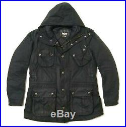 Very Rare Vgc Barbour International Waxed Parka Jacket Large Cost £295