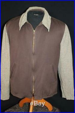 Very Rare Vintage 1930's-1940's Campus Tweed & Gabardine Jacket Size Large