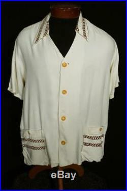 Very Rare Vintage 1940's-1950's Classic Catalina Rayon Hawaiian Shirt Size Large