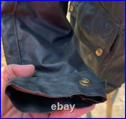 Very Rare Vintage 1960'S BELSTAFF Sammy Miller Waxed Motorcycle Jacket Size L 44