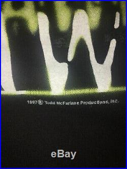Very Rare Vintage 1997 Spawn appetite for destruction t shirt Giant Tag Sz Lg
