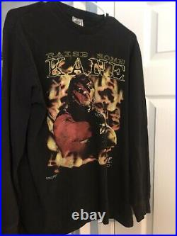Very Rare Vintage 1998 WWF Kane RAISE SOME KANE longsleeve shirt Large