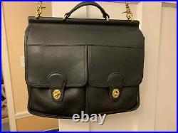 Very Rare Vintage Coach Dowel Field Bag #9940 Black Leather Excellent Condition