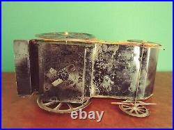 Very Rare c. 1895 Large CR Rossignol Tin Wind-up Buffalo Bill Phaeton Tinplate