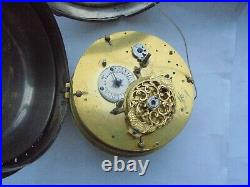 Very large coach watch pull repeat alarm and rare tic tac escapement circa 1750s
