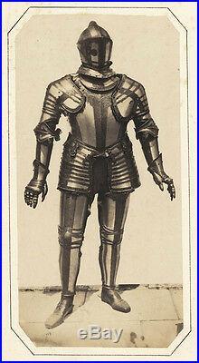 Very rare Large salt print Andreas Groll 1857c Medieval armor P. J. Orsini