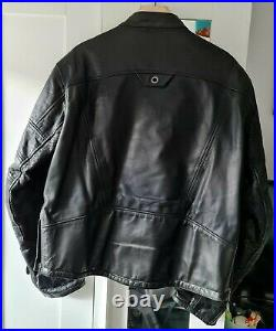 Very rare Roland Sands Design Ronin black Leather Motorcycle Jacket Size L