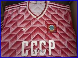 Very rare Vintage 80s CCCP, Soviet Union, USSR #4 Adidas shirt, jersey 1988