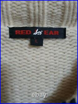 Very rare Vintage Paul Smith Red Ear Mens Wollen Cardigan Size L Pre-owned