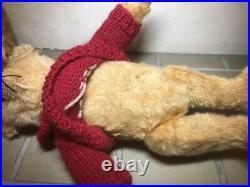 Vintage 1910 Steiff Teddy Bear Red Sweater Large 34cm Doll Very Rare