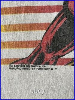 Vintage 1990 DC Comics The Flash Single Stitch Shirt Size Large 90s Very Rare