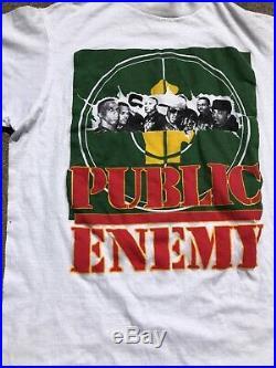 Vintage 1990's Public Enemy Rap T shirt Size L Very Rare