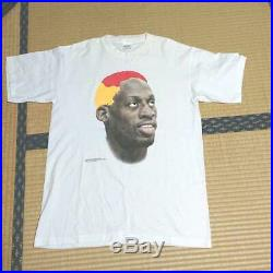 Vintage 90's Dennis Rodman Tee T Shirt L White Murina Made In USA Very Rare Good