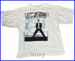 Vintage 90s David Bowie Sound Vision Tour T Shirt 1990 L Very Rare USA Made Tee