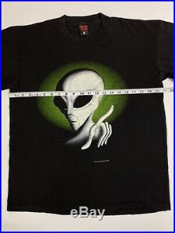 Vintage 90s Fashion Victim Alien Very Rare Deadstock T Shirt L USA Made UFO 1995
