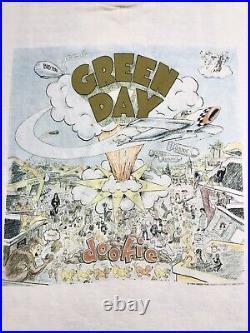 Vintage 90s Green Day Dookie Very Rare Album Promo Tour T Shirt Brockum 1994 USA