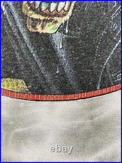 Vintage 90s IRON MAIDEN NO PRAYER 1990 TOUR T Shirt Tie Dye Very Rare Single USA