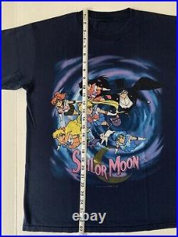 Vintage 90s Sailor Moon Anime T Shirt Size L Promo 1998 Very Rare Crazy Tee
