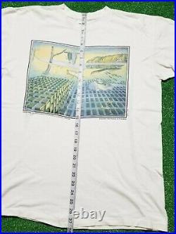 Vintage 90s Salvador Dali Museum Art T-Shirt Size L Watch Anvil Very Rare Tee